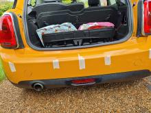 Colour matched parking sensor installation