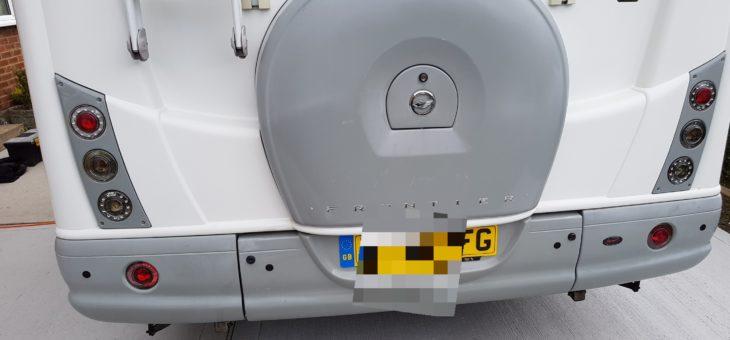 Fiat Ducato motorhome wireless reversing sensors.