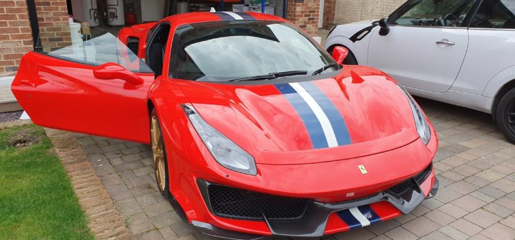 Smartrack Thatcham approved stolen vehicle tracker Ferrari 488 Pista
