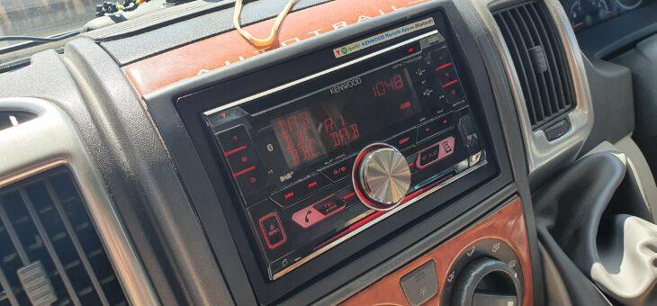 Fiat Ducato motorhome DAB stereo upgrade.