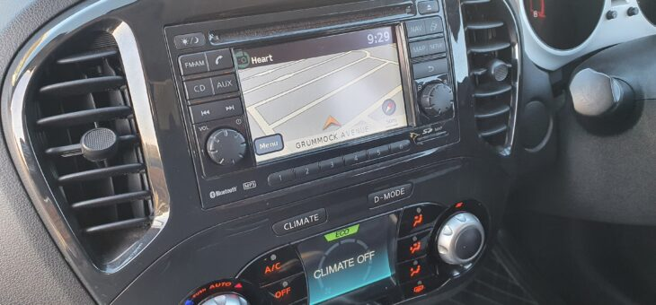 Radio swap, customer supplied sat nav radio swap in a Nissan Juke.
