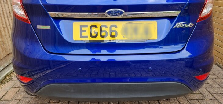 2016 Ford Fiesta rear parking sensor's, colour matched and fitted £180.00