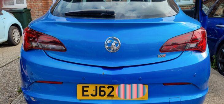 Vauxhall Astra VXR rear parking sensors.